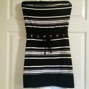 Cute White House Black Market Strapless Sun Dress